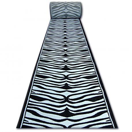 Chodnik HEAT-SET FRYZ 9032 ZEBRA biało czarna