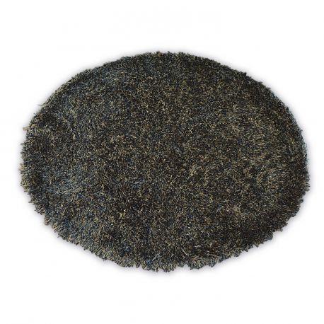 Dywan LOVE SHAGGY koło wzór 93600 czarny-brąz