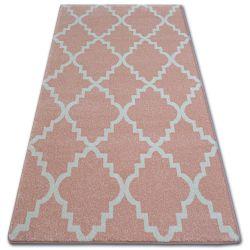 Dywan SKETCH - F343 różowo/kremowa koniczyna marokańska trellis