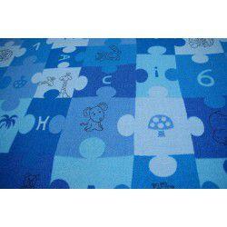 Wykładzina dywanowa PUZZLE niebieski