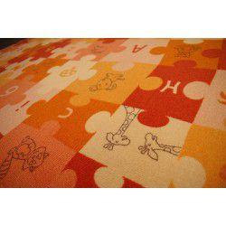 Wykładzina dywanowa PUZZLE pomarańcz