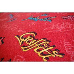 Dywan dziecięcy GRAFFITI czerwień