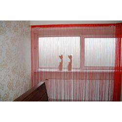 FIRANKA MAKARON 250x300 cm DECO PASKI 01 czerwony