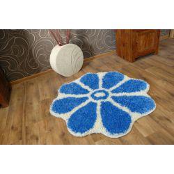 Dywan SHAGGY GUSTO Kwiatek C300 niebieski