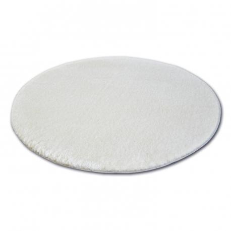 Dywan koło SHAGGY MICRO biały