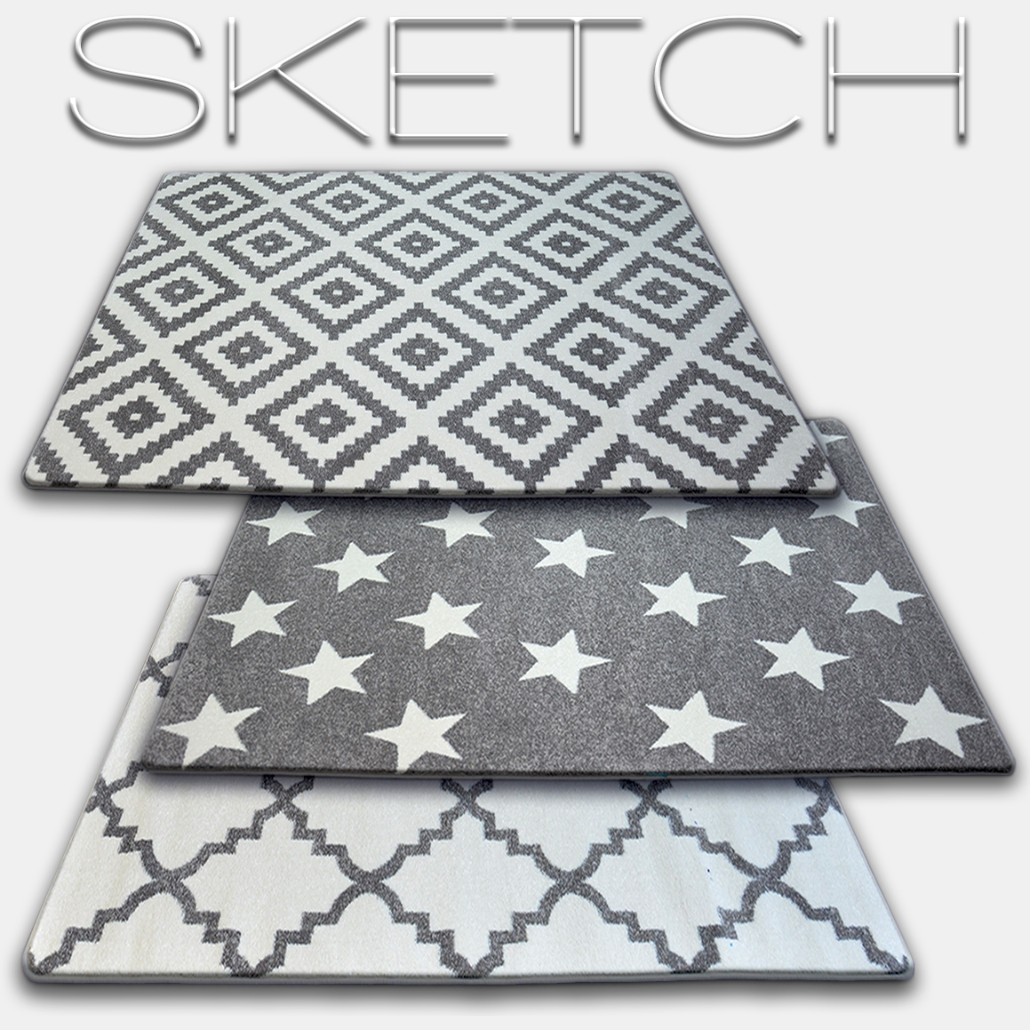 Dywany kolekcji Sketch grey