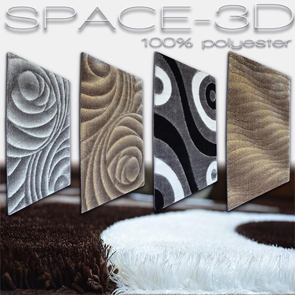 Dywan kolekcji poliester shaggy Space 3D