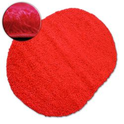 Dywan owalny SHAGGY GALAXY 9000 czerwony