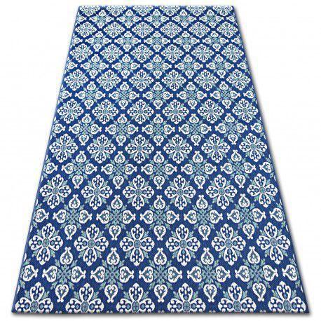 Dywan COLOR 19246/699 SISAL Kwiaty Niebieski