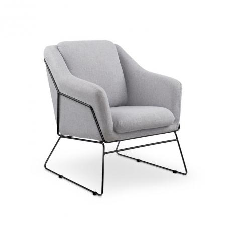Fotel SOFT 2 jasny popiel