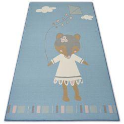 DYWAN dla dzieci LOKO Myszka niebieski antypoślizgowy