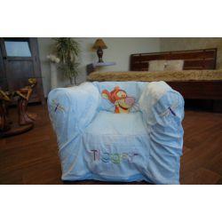 NADMUCHIWANY FOTEL DISNEY TIGER niebieski