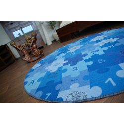 Dywan dziecięcy PUZZLE niebieski koło