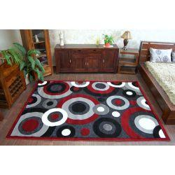 Dywan CHENILLE 9386 czarny/czerwony