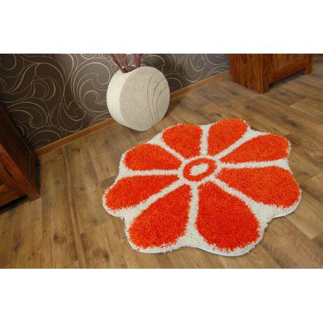 Dywan SHAGGY GUSTO Kwiatek C300 pomarańcz