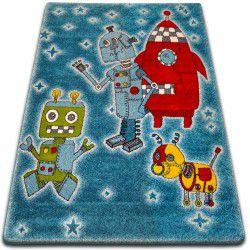 Dywan KIDS Roboty niebieski C419