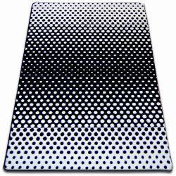 Dywan SKETCH - F762 biało/czarny - Kropki