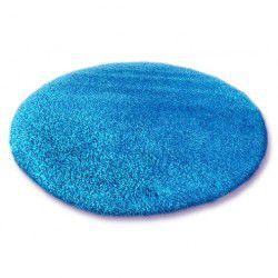 DYWAN koło SHAGGY 5cm niebieski