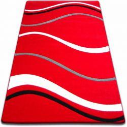 Dywan FOCUS -  8732 czerwony FALE LINIE KRESKI